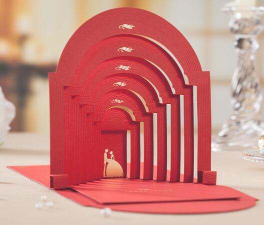 luxury 3d wedding invitations cards inner free printing laser