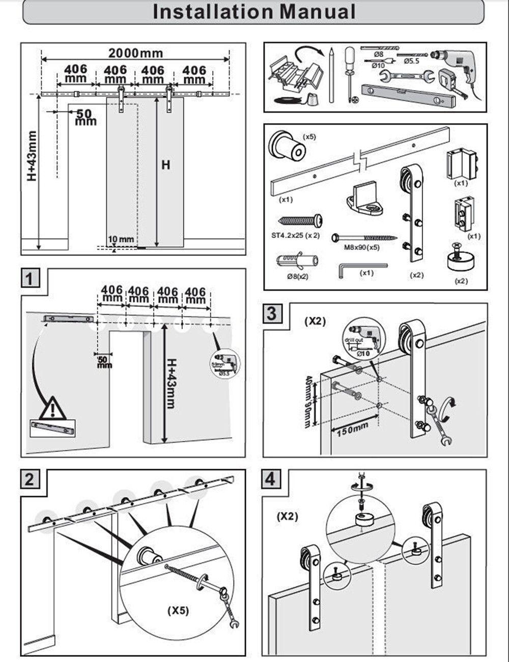 how to put a screen door handle together