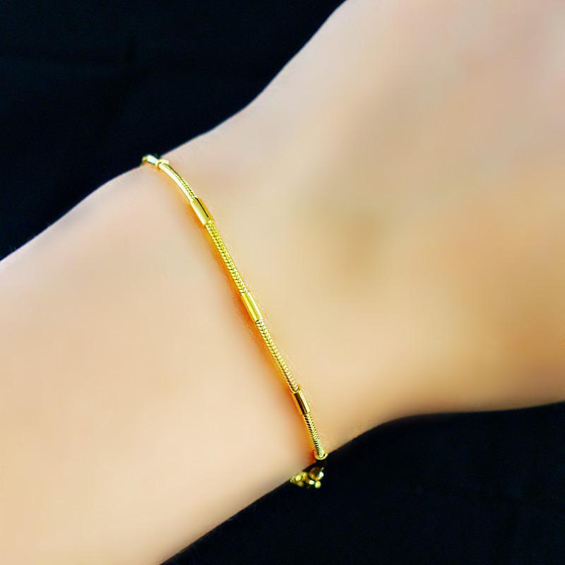 18K Real Vergulde Armband Dames Sieraden Gift Gratis Verzending Nieuwe Trendy 1.8mm Chunky Snake Chain Link Armband