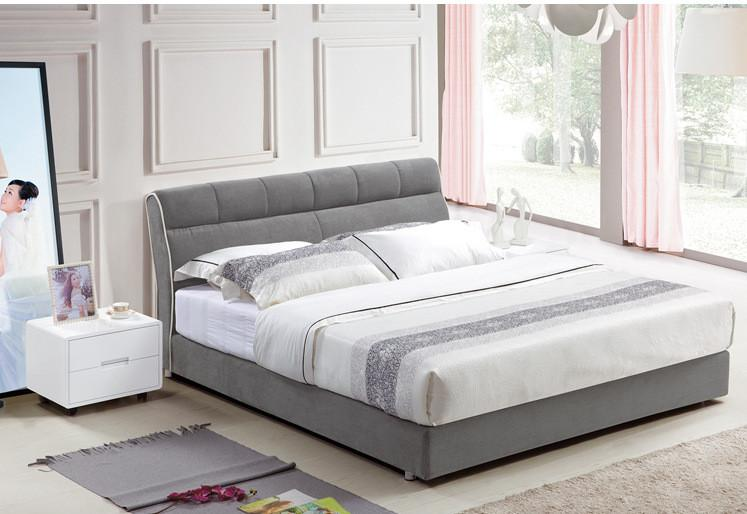 2020 Cloth Art Bed Modern Style Gray Simple Fasion Double Person