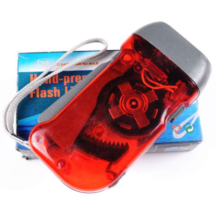 Essential household LED flashlight mini hand pressure flashlight hand pressure light green light hand pressure flashlight Specials
