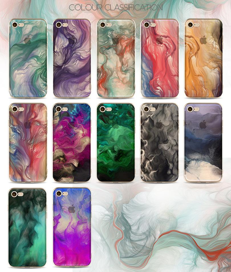 2018 New Painted Case For Apple iphone X 8 7 6 6s plus 5 5s 5c SE TPU Anti-Drop Cell Phone ProtectorCases