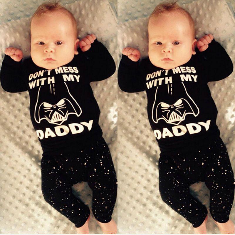 Nouveau-né Bébés Garçons Fille Vêtements Automne Hiver Boutique Vêtements Hauts T-shirt + Pantalon Long Enfant Toddler Outfit Set 2pcs