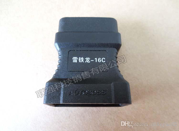 100% origianl V30 Citroen 16C OBD-II Adaptor for AutoBoss OBD II Connector OBDII Adapter OBD 2 Citroen-16C OBD2 Connecter