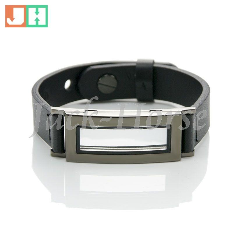 Real leather stainless steel locket bracelet trendy leather bracelet,stainless steel floating locket bracelet, floating charms bracelet