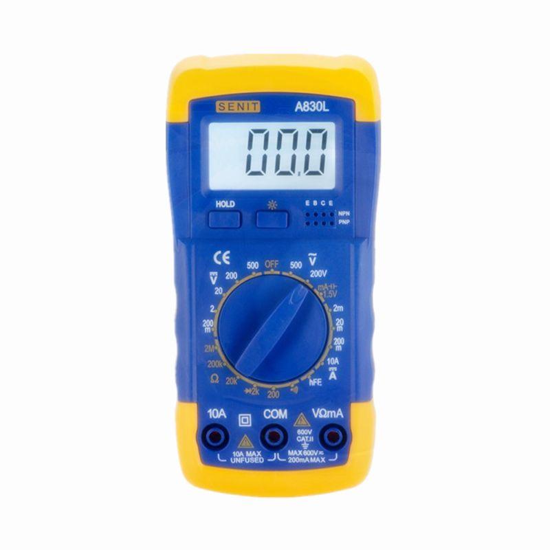 Atacado Preço de Fábrica DMM Multímetro Digital A830L Voltímetro Ohmmeter HFE Atual Tester LCD Backlight Amperímetro Multitester