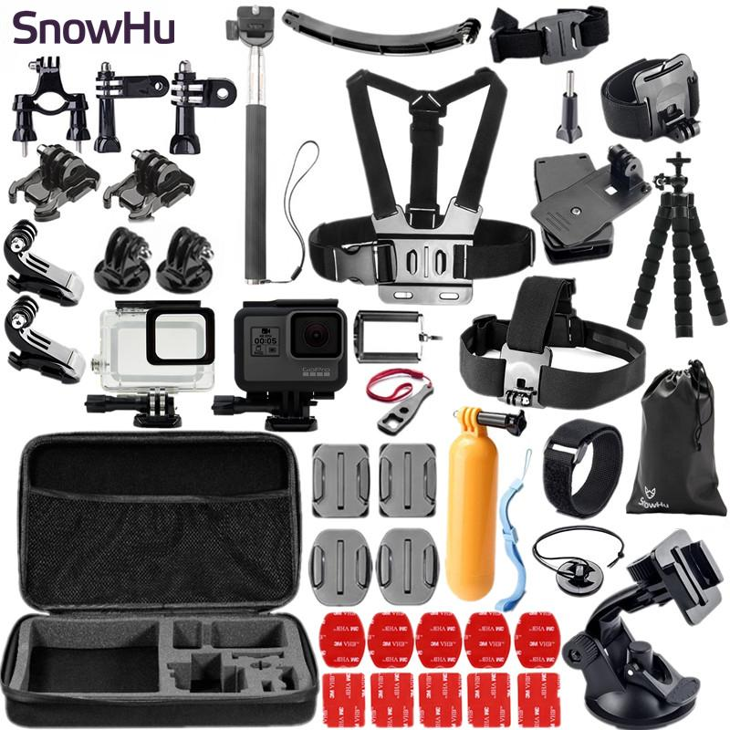 Freeshipping kitsFor GoPro Hero 6 5 Accessories set Waterproof Case Diving Housing Case for Go Pro Hero 6 5 Action Camera Accessories GS41