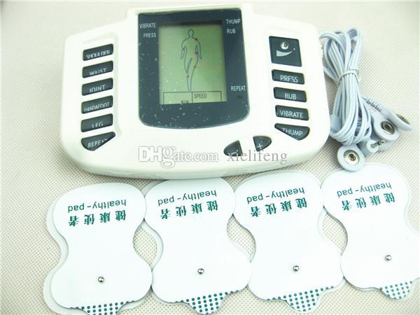 Электрический шок цифровой шеи груди талии тела терапия массажер машина здравоохранения гаджеты электро шок БДСМ бондаж передач секс-игрушки JR-309