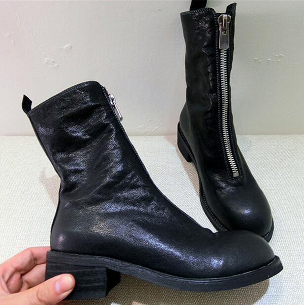 GUIDI Front zip ankle boots RBb6MmUg