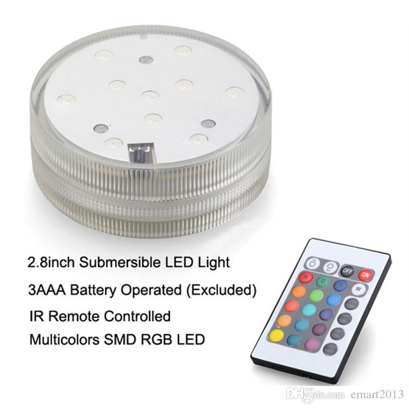 Lumière submersible menée base Hookah shisha waterpipe accessoires lumières changement de couleur avec télécommande à piles