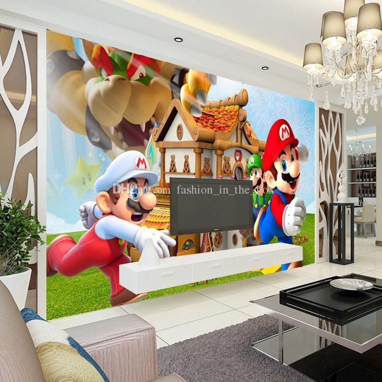 Großhandel Super Mario Fototapete Personalisierte Benutzerdefinierte 3D  Wandbild Spiel Tapete Kinderzimmer Jungen Schlafzimmer Zimmer Dekor Sofa ...