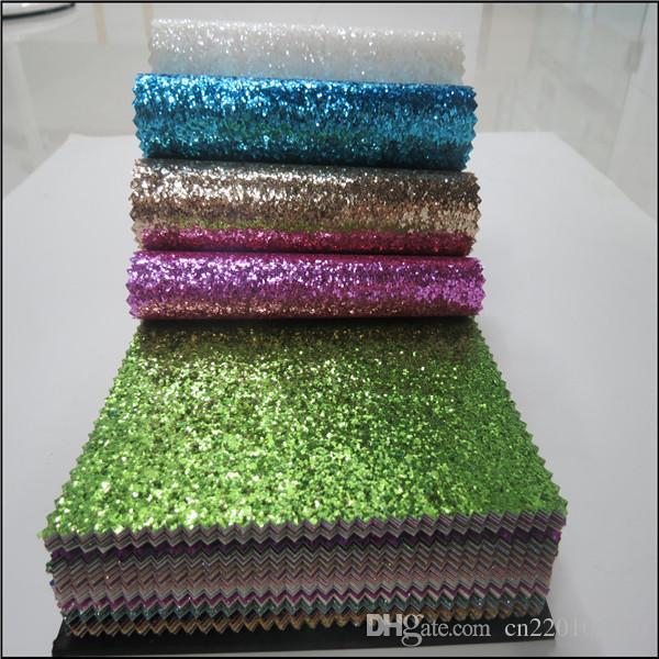 HOT Saling Wholesale Glitter Fabric And Custom Wallpaper Gold Glitter  Lpaper Shiny Chunky PU Glitter Leather Fabric For Decoration Free Wallpaper