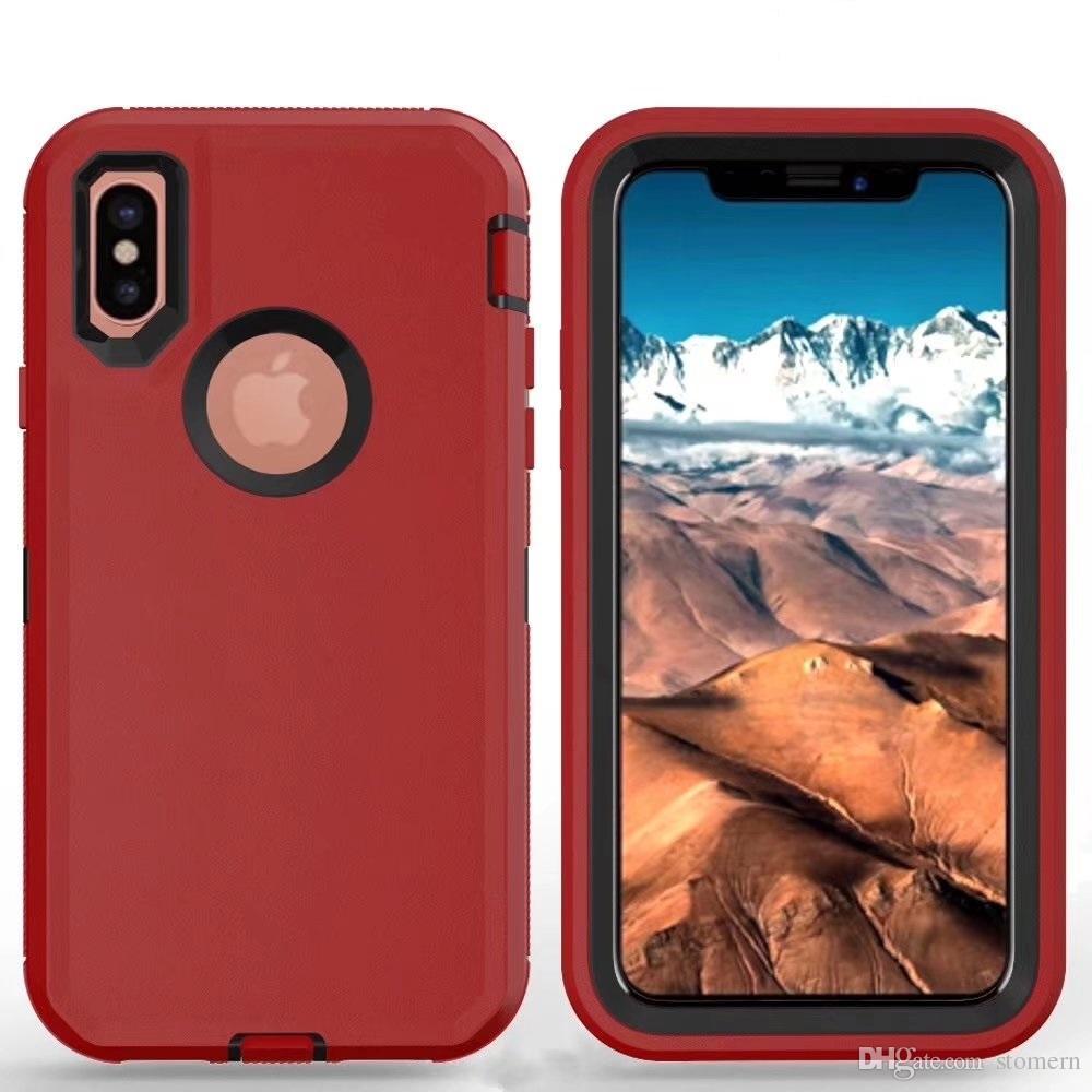 Robot Armor Case for iPhone 12 Mini 11 Pro X XR XS Max 6 6S 7 8 Plus لسامسونج S21 S20 Ultra + S10E S9 S9 Plus S8 S7 Edge Note 20 10 9 8