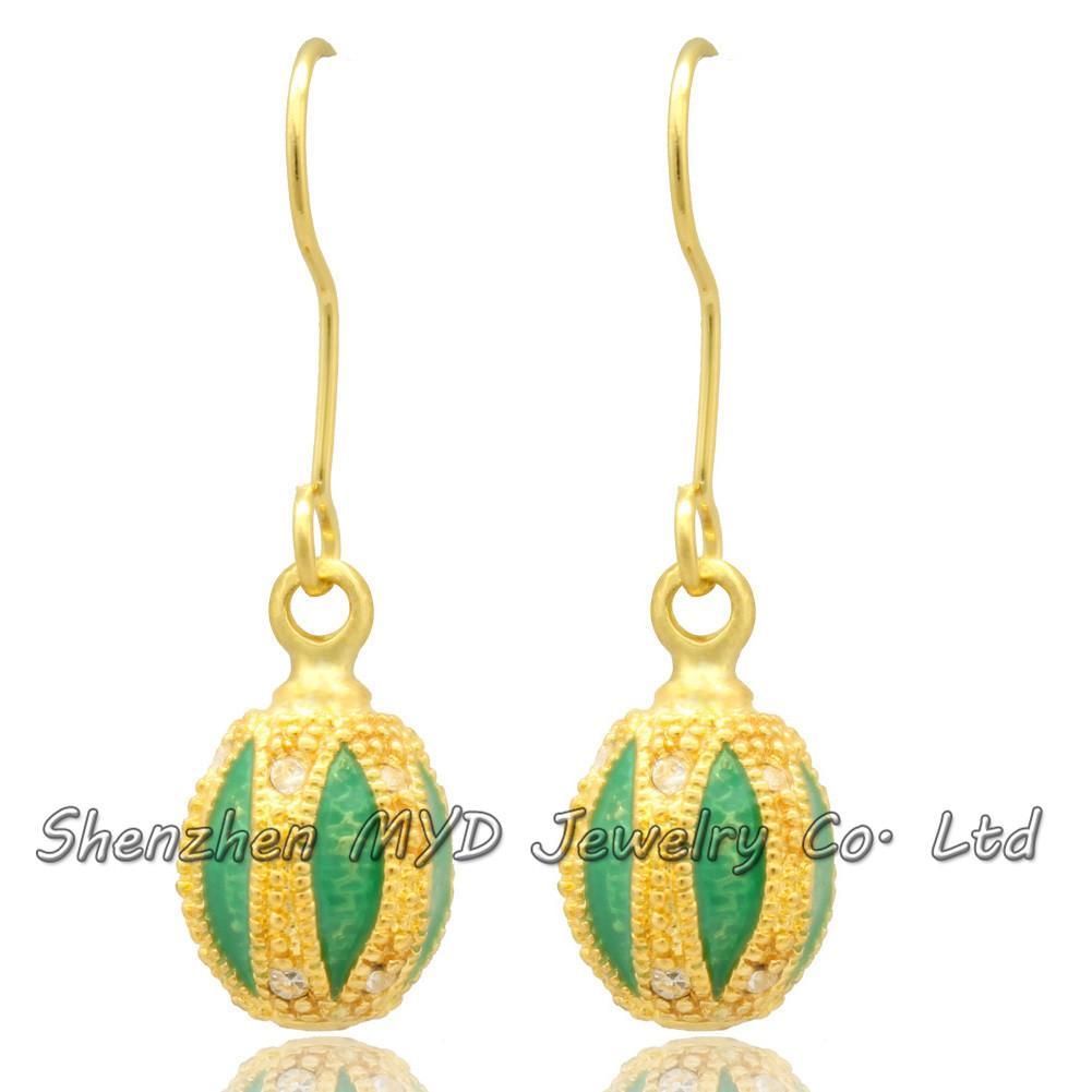 Handmade woman fashion jewelry lantern shaped earrings muliti-color crystal drop earrings color enameled for girls ladies