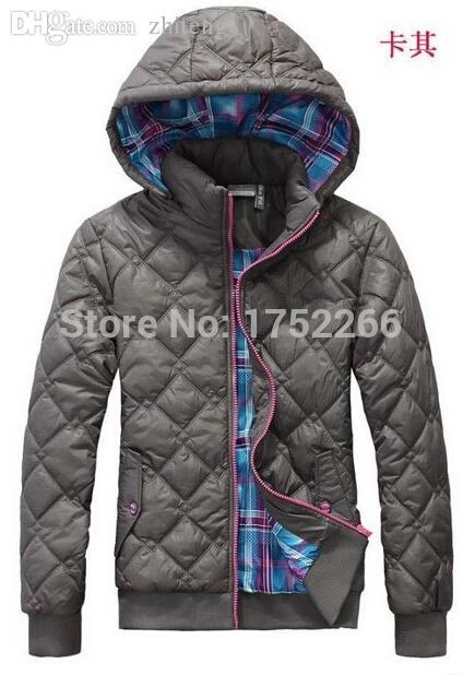 Commercio all'ingrosso-Spedizione gratuita inverno nuove donne di marca con cappuccio ha portato il cappotto sportivo in cotone in cotone rivestito rivestimento in cotone-imbottito