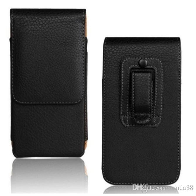 "1PCS Moda Negro Cor Belt Clip Holder PU caso capa para BQ Aquaris E4.5 (4,5"" )"