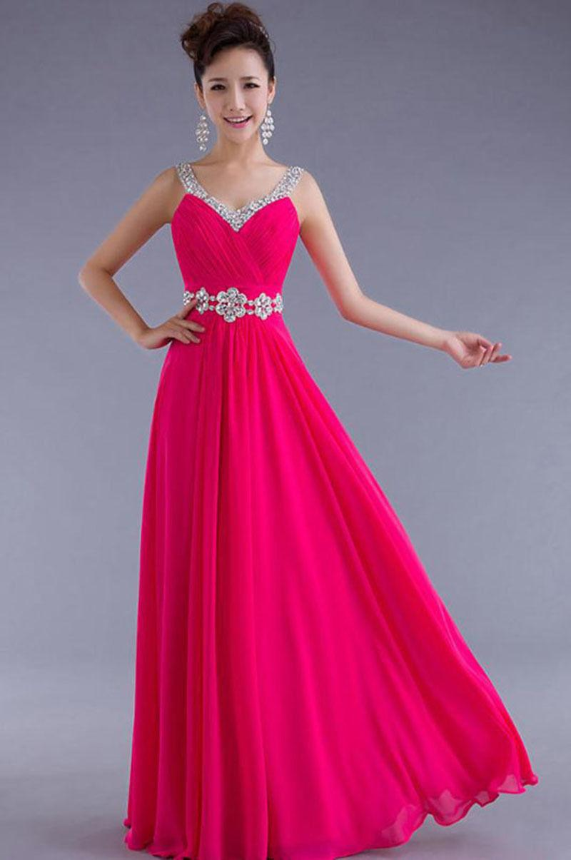 1c5101cb3c8 Long Chiffon Evening Formal Party Ball Gown Prom Bridesmaid Dress