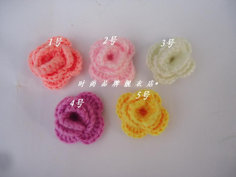 2018 Handwoven Pattern Child Hair Accessory Knitting Flower Baby ...