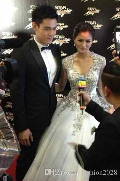 Ball Gown Wedding Dresses Kim Chiu at Star Magic Ball V neck Cap ...
