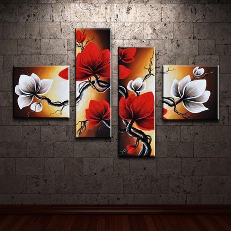 Handgemalte moderne abstrakte Kunst nach Hause Wandkunst für Wohnzimmer Schlafzimmer Hall Dekor Blumen Ölgemälde auf Leinwand