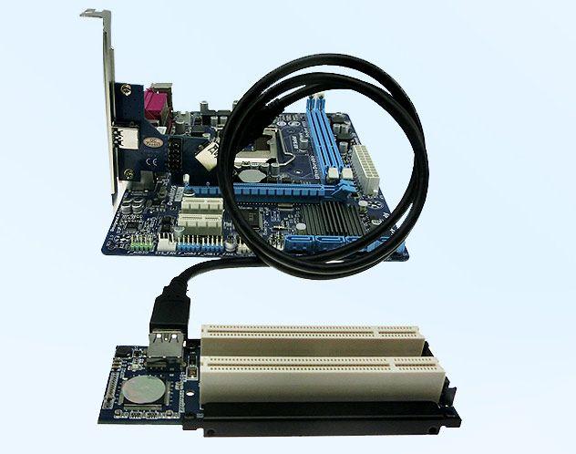 PCI-express x1 PCIe 2 PCI Adaptör Router Çift PCI yuvası Yükseltici Kartı PCI Olsun
