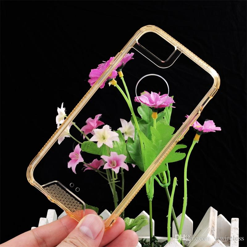 For VIVO X7 X9 Plus OPPO R9 R9s Plus Scratch Resistant Soft Tpu Acrylic Hard Clear Back Hybrid Bumper Cystal Clear Phone Case