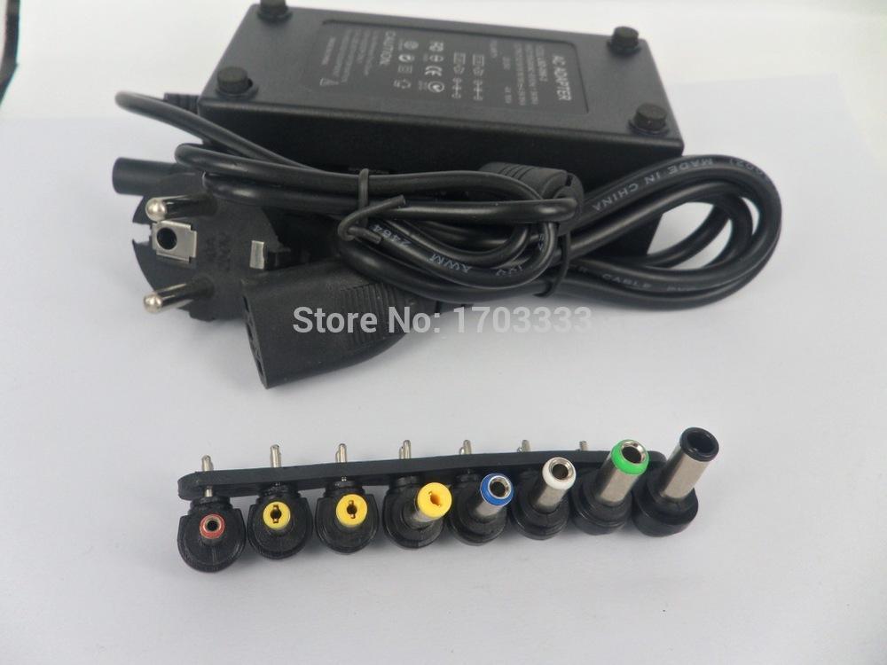Оптовая Универсальный 96W ноутбук ноутбук зарядное устройство адаптер питания с ЕС ВЕЛИКОБРИТАНИЯ AU США Plug с розничной упаковке 50 шт. / Лот