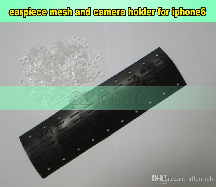 Original Adhesive Ear Speaker Earpiece Anti Dust Screen Mesh with camera holder & sensor for iPhone 6g 4.7 inch Replacement 100pcs/lot