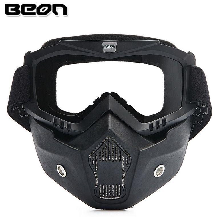 2016 새로운 정통 Beon 레트로 모델 오프로드 오토바이 헬멧 고글 크로스 컨트리 안티 - 안개 고글 마스크 블랙 컬러