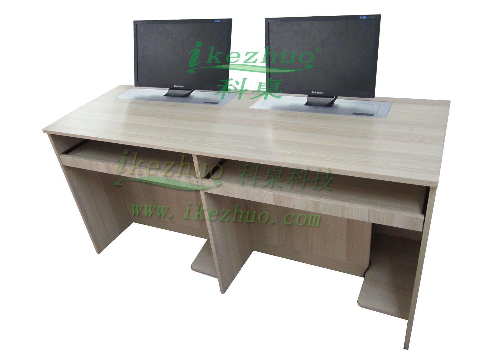 Двойные компьютерные мультимедийные конференц-столы. Подъемные столы. ЖК-дисплей. Подъемные столы.
