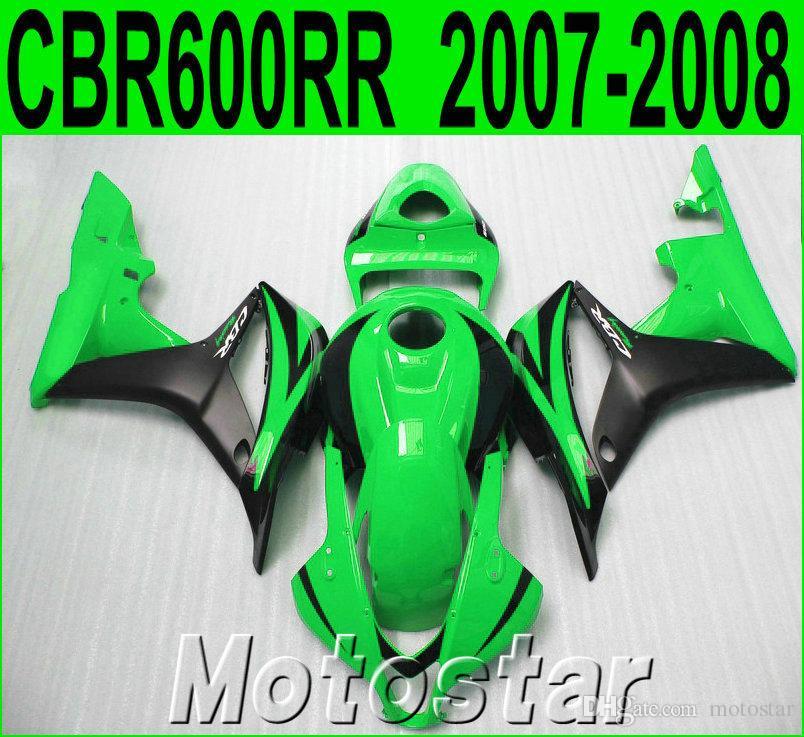 Free shipping fairing kit for HONDA Injection molding CBR600RR 2007 2008 bodykits CBR 600RR F5 07 08 matte black green fairings KQ16