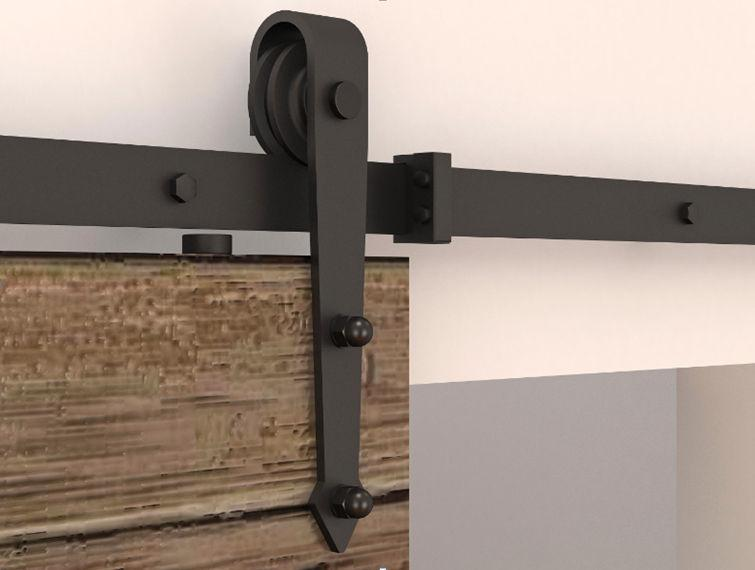 Стрелка стильный античный черный деревянный раздвижные двери сарая оборудование интерьер американский раздвижные двери сарая трек комплект