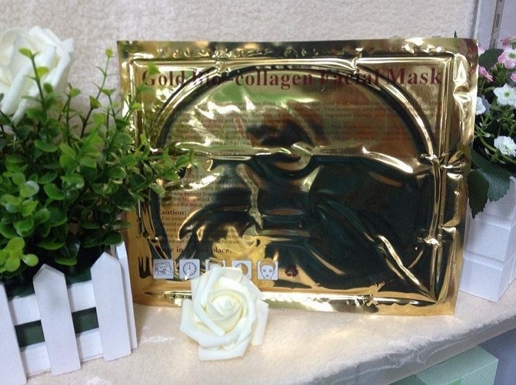 2015 горячая продажа золото био коллаген маска для лица Маска Кристалл золотой порошок коллаген бесплатная доставка