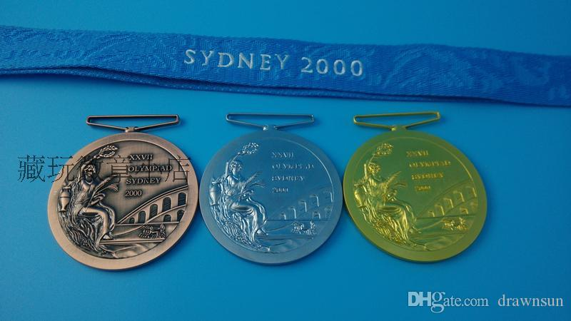 2019 2000 Sydney Olympic Games Gold Sliver Bronze Medal High Quality Medals  With Strap And Box For Collection DHL From Drawnsun, &Price