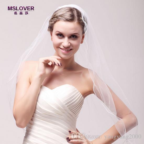 Atacado hot nupcial do casamento acessórios 70 cm camada única requintado Rhinestone véu de noiva TS120339