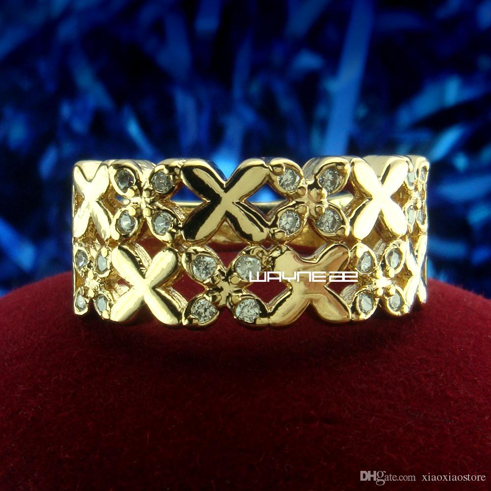 Ювелирные изделия! 18-каратного белого золота с сапфировым кольцом для женщин Sz7.5 8 R223