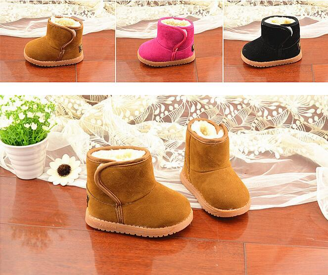 Children's shoes classic winter models thick warm snow boots children snow boots tendon at the end cotton shoes 21-30 JIA634