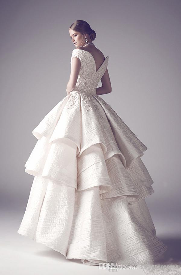 Discount 2015 Krikor Jabotian Wedding Dresses Ball Gown Off Shoulder ...
