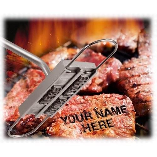 2016 Funnest BBQ Branding Iron Tool 스테인레스 스틸 바베큐 도구 Fire Word Family Party Tools