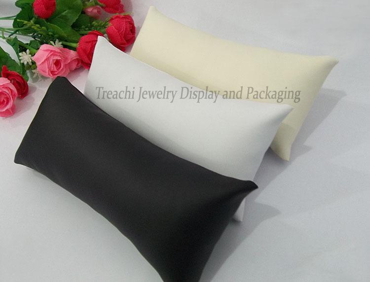 Роскошный черный белый бежевый PU подушка смотреть подушка держатель ювелирных изделий браслет хранения персонализированные дисплей для Часы Браслет