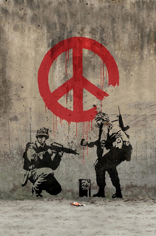 """Banksy Peace Art Graffiti Artist Tygaffisch 36 """"x 24"""" 20 """"x13"""" - 01"""