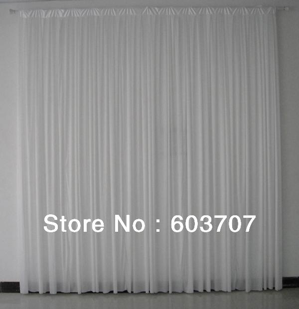 10FT *10FT White Ice Silk Wedding Backdrop Curtain With Free Shipping For Wedding,Party,Hotel Decoration Use