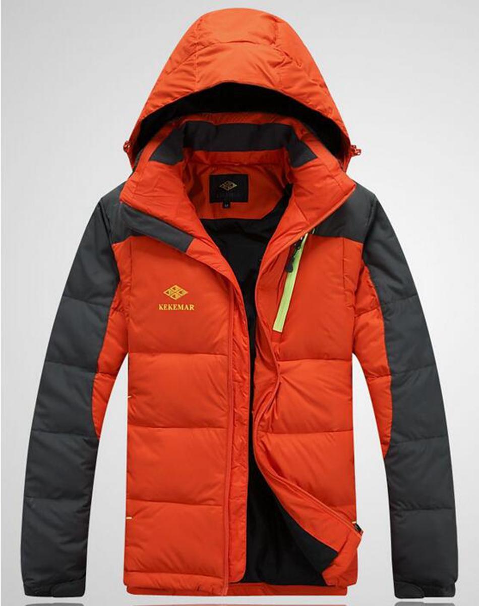 Los nuevos especiales más auténticos de la moda masculina cultivan la moralidad de uno, el largo pato blanco en el abrigo cálido y cálido. M - 2 xl