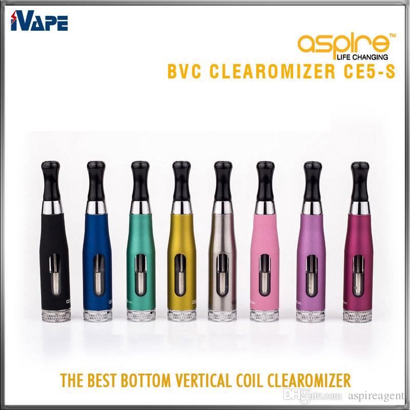 Aspire CE5-S BVC Clearomizer 100 % 정통 Aspire CE5S BVC BDC E 전자 담배 자아 분무기 BLC BDC 코일 1.8ml CE5S 기화기