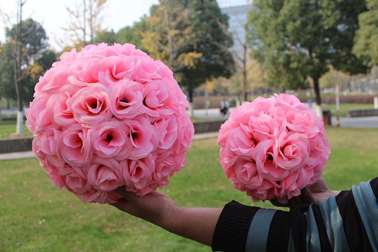 """8""""/20 CM Artificial Rose Silk Flower Kissing Balls Hanging Ball For Christmas Ornaments Wedding Party Decoration 6 Color New Arrival"""