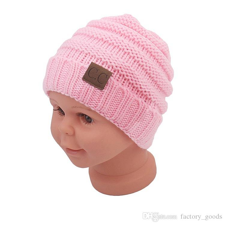 Fashion Baby Knitted Hat Children Woolen Knitted Cap Kids Winter Outdoor  Warm Beanie Hats Caps Hot ... a85332f7e96