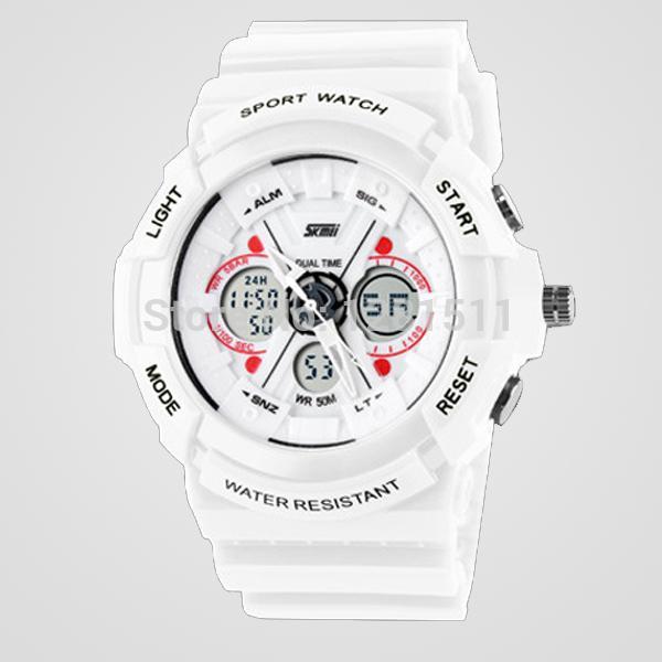 2014 Yeni ŞOK dayanıklı spor su geçirmez elektronik G LED DIJITAL Moda ordu askeri saatler erkekler Casual bilek Saatler
