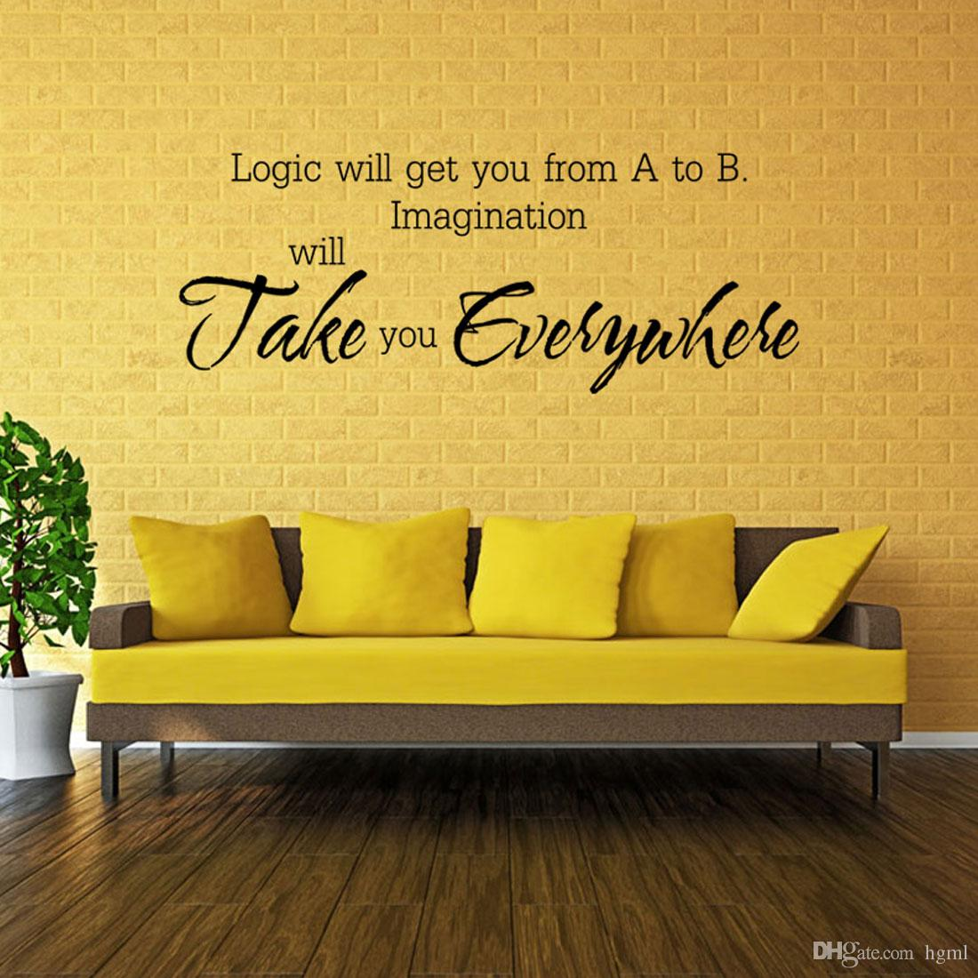 Removable PVC Wallpaper English Words Home Decor For Living Room ...