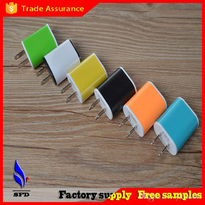 Colorful US Plug USB Power Wall Home Travel Charger Adapter For iPhone 6 6Plus 5 5S 4 4S Smartphone
