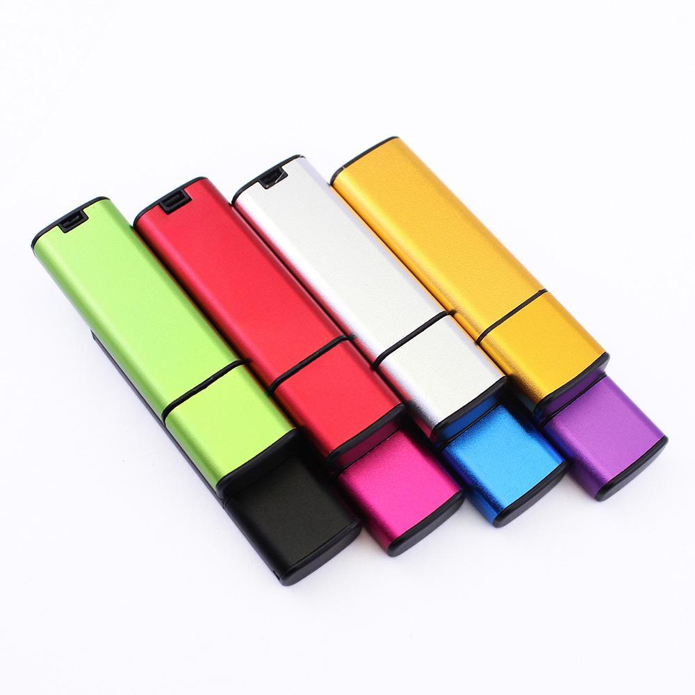 Free Logo Wholesales 100PCS 128MB/256MB/512MB/1GB/2GB/4GB/8GB/16GB Memory USB Flash Drive 2.0 Metal Stick Pendrive True Storage NO Data Lose